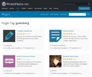 These 100+ WordPress plugins are already available for Gutenberg