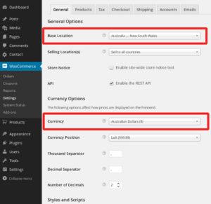 Localise your WooCommerce settings
